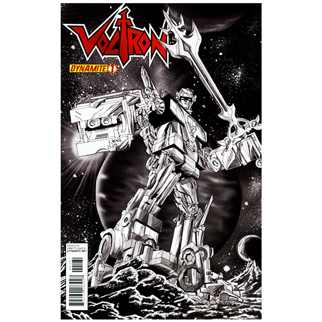 "VOLTRON #01 - (1:15) ""BLACK & WHITE"" COMIC"