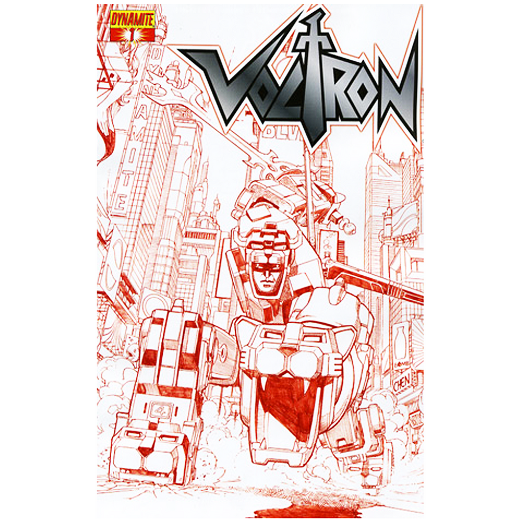 "VOLTRON #01 - (1:25) ""FIERY RED"" COMIC"