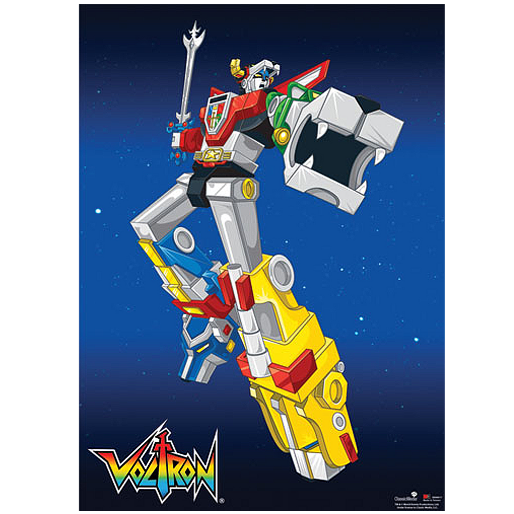 Voltron Battle Pose Wall Scroll