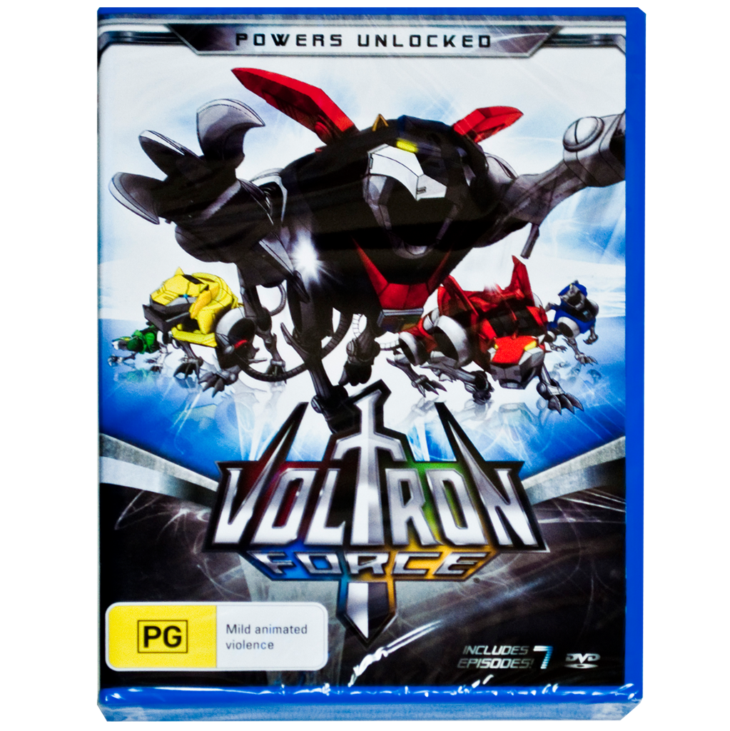 VOLTRON FORCE: POWERS UNLOCKED DVD (REGION 4 PAL VERSION)