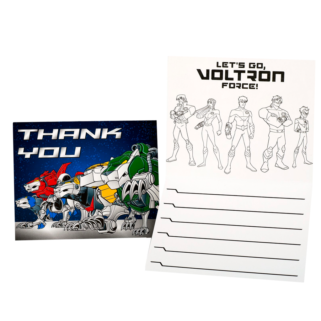 Voltron Force Thank You Notes
