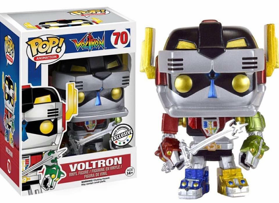 Funko Metallic Voltron Pop Vinyl Figure NOW SHIPPING