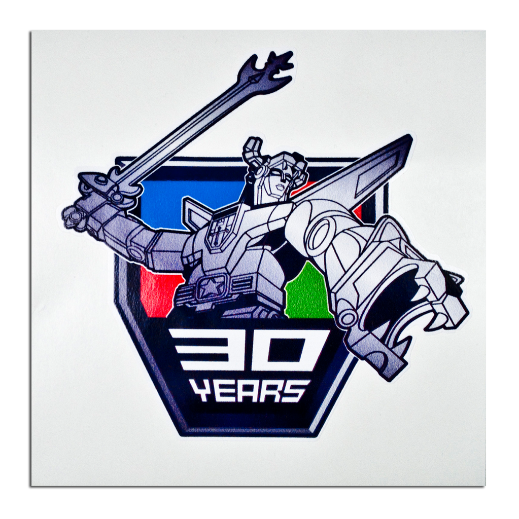Voltron 30th Anniversary logo decal