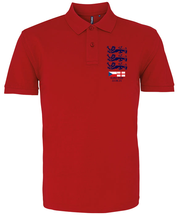 Euro 2020 England v Czech Republic Polo Shirt