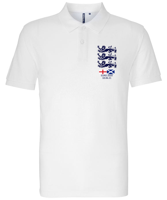 Euro 2020 England v Scotland Polo Shirt