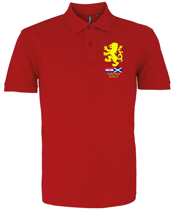 Euro 2020 Scotland v Croatia Polo Shirt