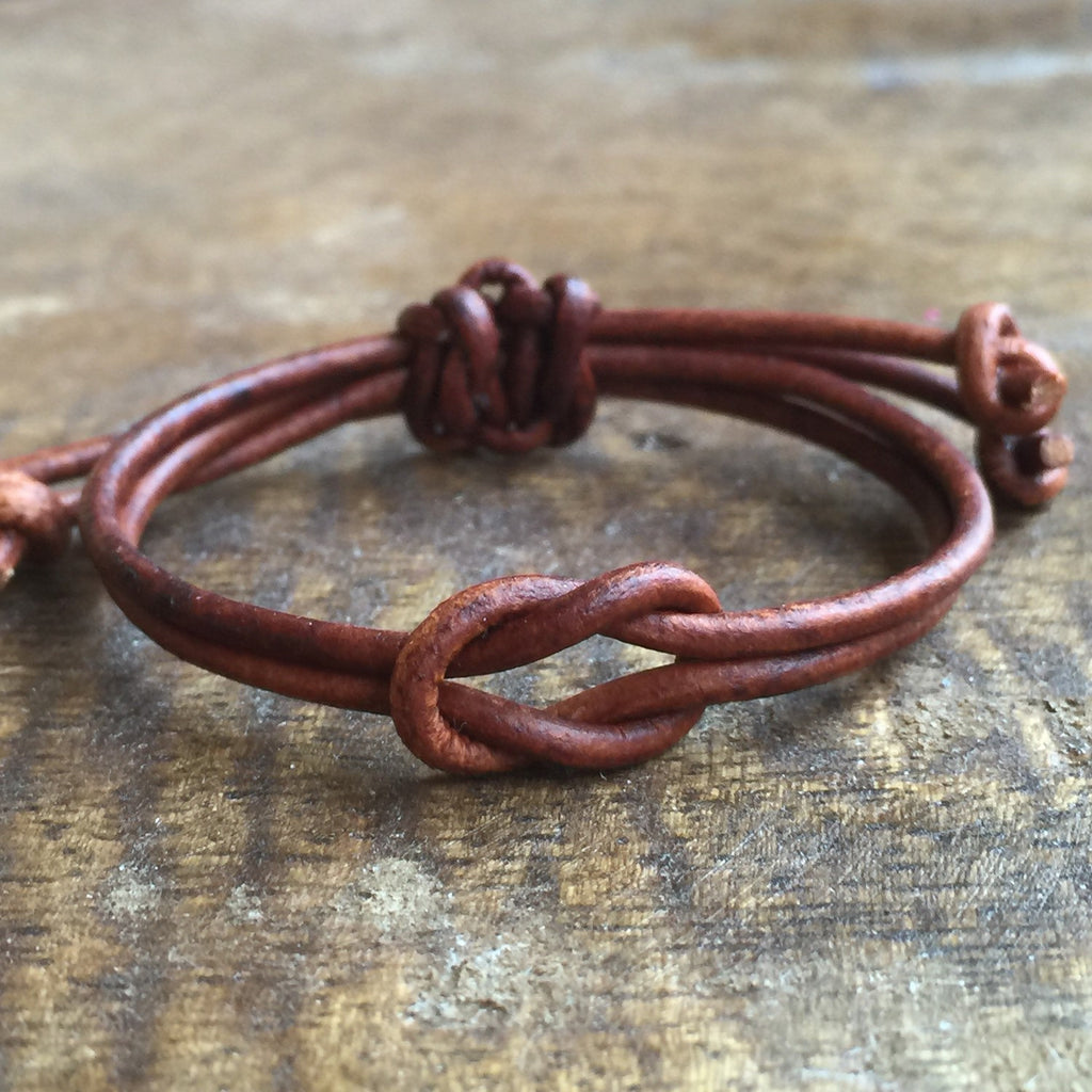 Boys Leather Bracelet - Gifts&Knots
