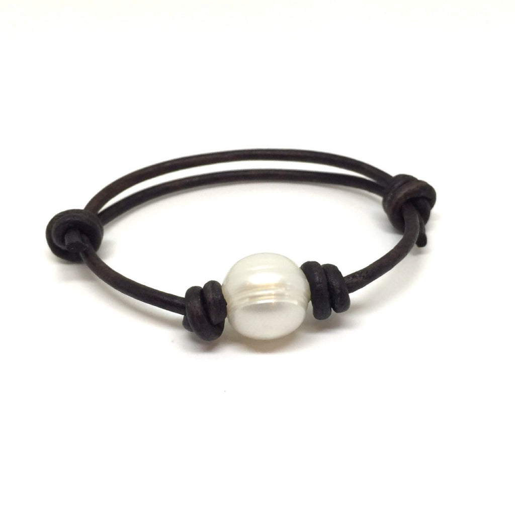 Pearl Leather Anklet Bracelet - Gifts&Knots