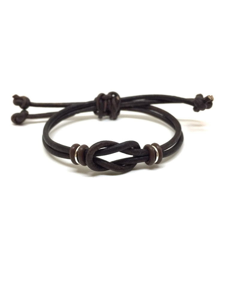 Celtic Knot Leather Bracelet - Gifts&Knots
