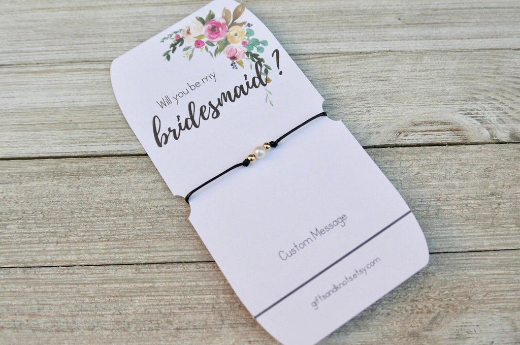 Will You Be My Bridesmaid?, Bridesmaid Bracelet Favors - Gifts&Knots