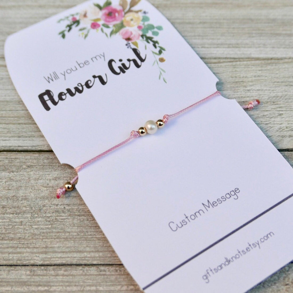 Will You Be Our Flower Girl?, Flower Girl Bracelet - Gifts&Knots