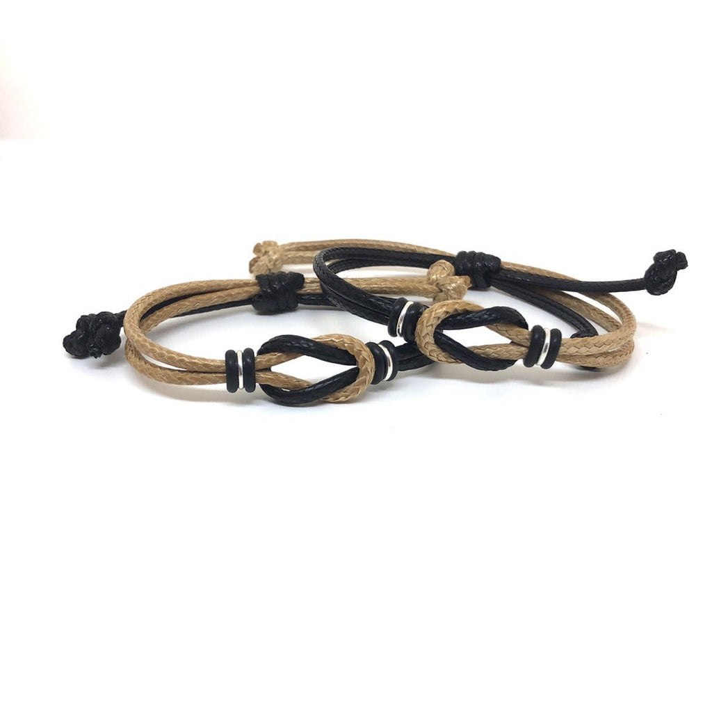Nautical Knot Couple Bracelets, Two Colors Matching Bracelets - Gifts&Knots