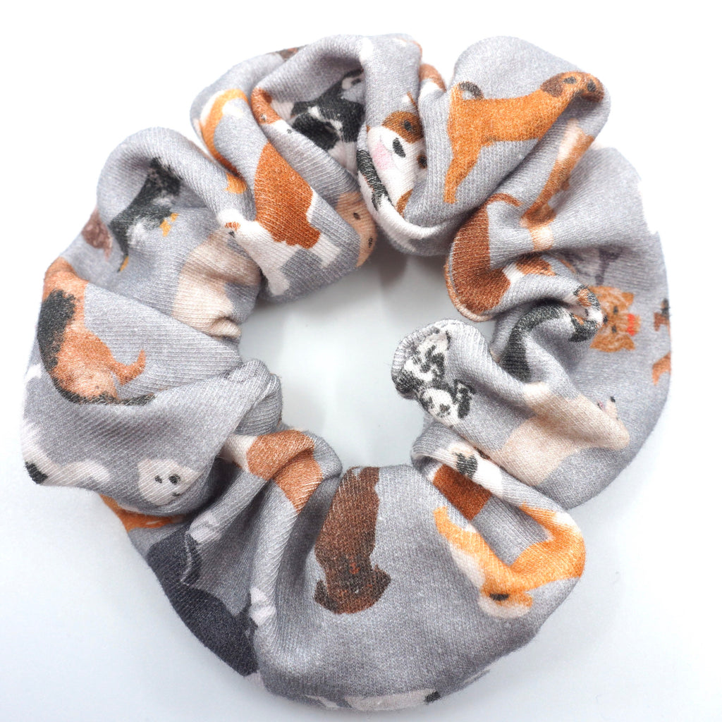 Dog Lover Scrunchie Gray Hair Accesories Gift for Her