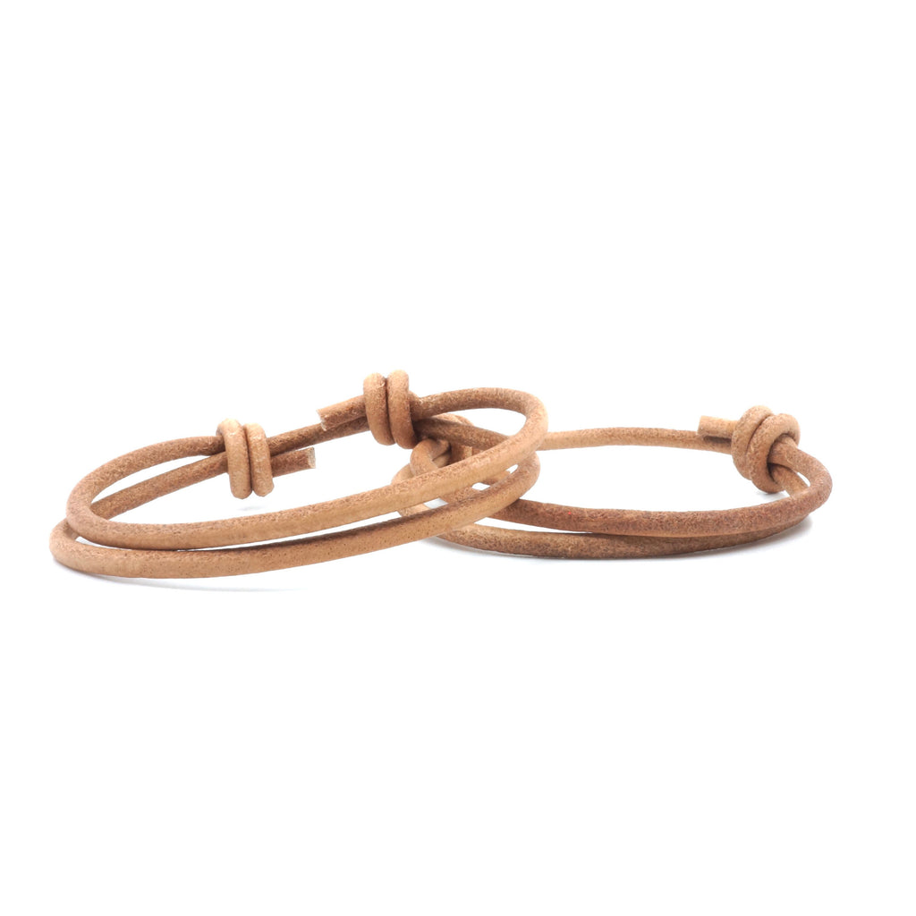 Couples Bracelets Natural Leather Cord