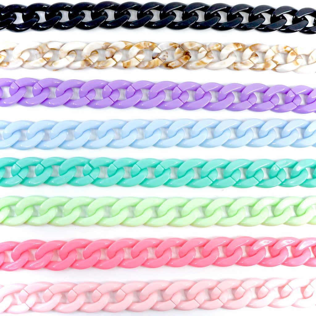 Face Mask Acrylic Chunky Link Chain Many Colors to Choose