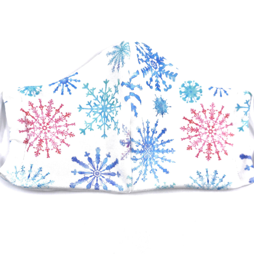 Christmas Snowflakes Holidays Face Mask Organic Knit Cotton