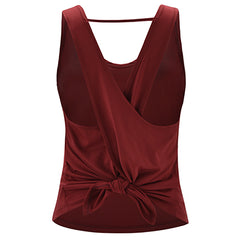 T-shirt Fitness Solid Yoga Sleeveless