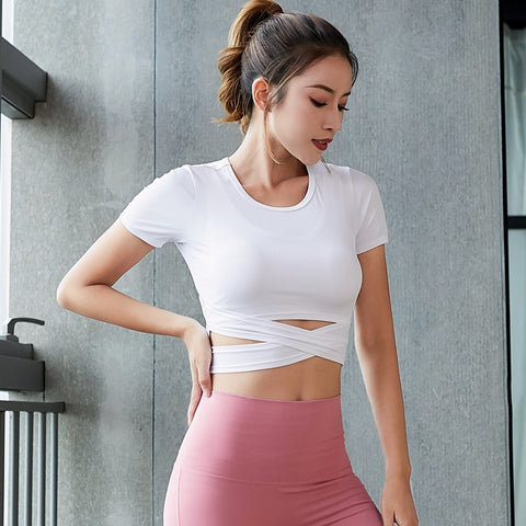 Crop Tops Yoga Shirts