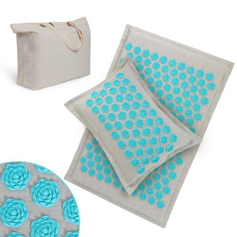 Massage Mat and Pillow Set