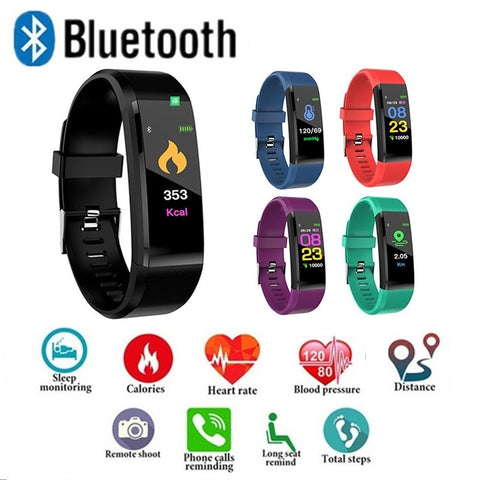 Sports Pedometer Watch Fitness Tracker