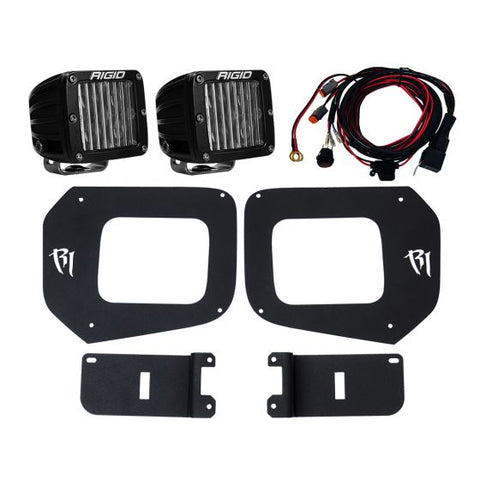 Rigid Industries - 465673 - 2016-2017 Tacoma Fog Mount Kit Sae Compliant D-Series Pair