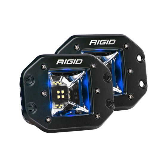 Rigid Industries - 68211 - Radiance Scene Blue Backlight Flush Mount Pair