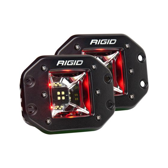 Rigid Industries - 68212 - Radiance Scene Red Backlight Flush Mount Pair