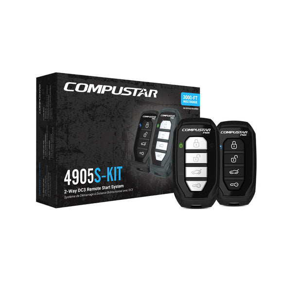 Compustar - All-in-One 2-Way Remote Start Bundle w/ Built-in Bypass