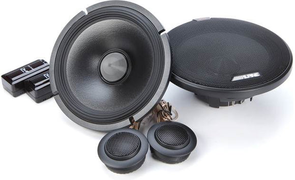 "Alpine R-S65C.2 R-Series 6.5"" Component 2-Way Speakers"
