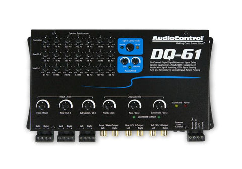 Audio Control DQ-61 6 Channel Line Out Converter with Signal Delay and EQ