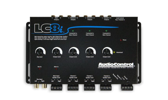 Audio Control LC8i 8 Channel Line Out Converter with Auxiliary Input