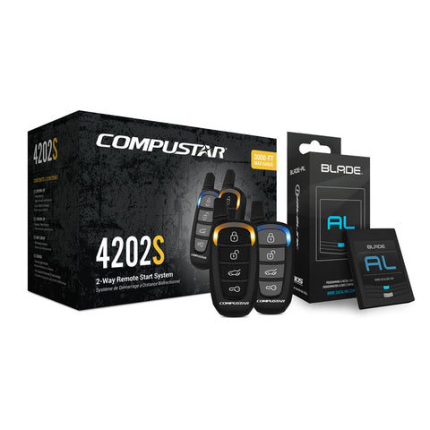 Compustar CS4202-S-KIT All-in-One 2-Way Remote Start Bundle w/ Bypass