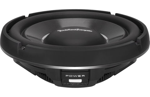 "Rockford Fosgate Power 12"" T1 Slim Single 1-Ohm Subwoofer"
