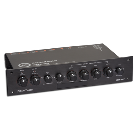 PowerBass XEQ-4BT 4 Band, 3 Zone, Bluetooth Power Sports Equalizer