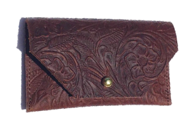 Marine Carved Leather • Cardholder