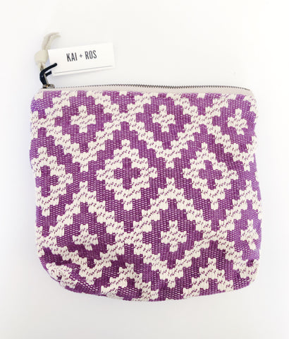 Purple Geo Medium Pouch