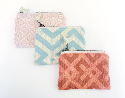 Small Geo Fabric Belle Pouch