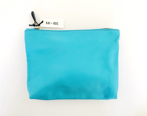 Large Turquoise Belle Pouch