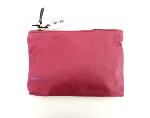 Medium Burgundy Belle Pouch
