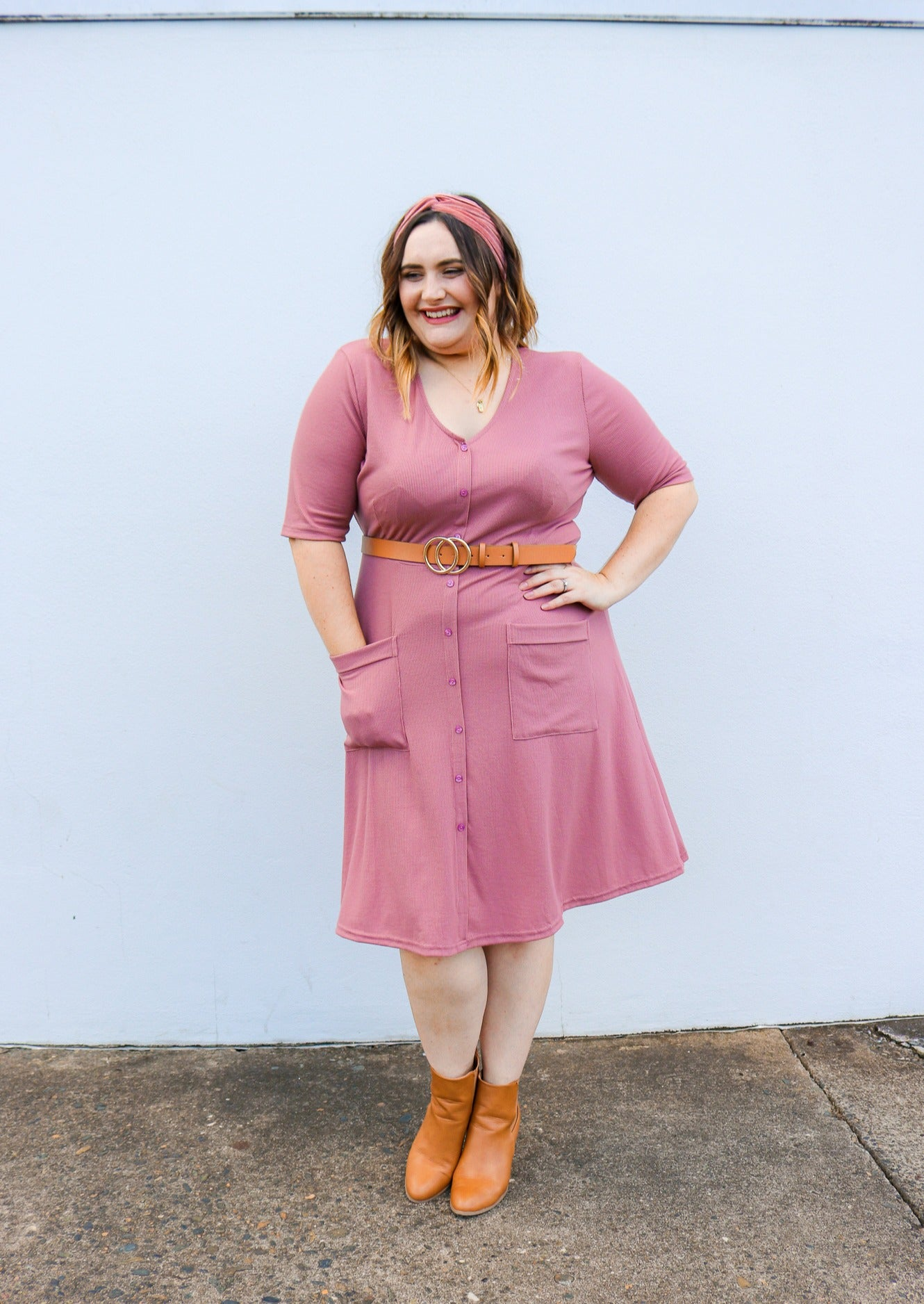 Evie Dress | Dusty Pink