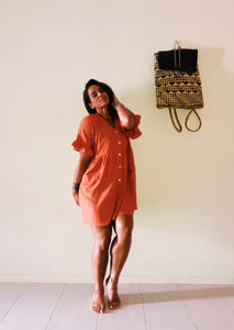 Kenleigh Dress | Orange