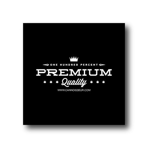 Cannoisseur® - One Hundred Percent Premium Quality Sticker