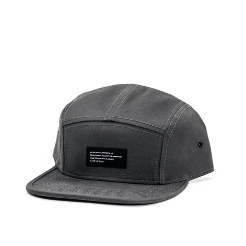 Cannoisseur® - 5 Panel Camp Hat (Grey)