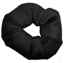 Load image into Gallery viewer, Black Satin Scrunchie