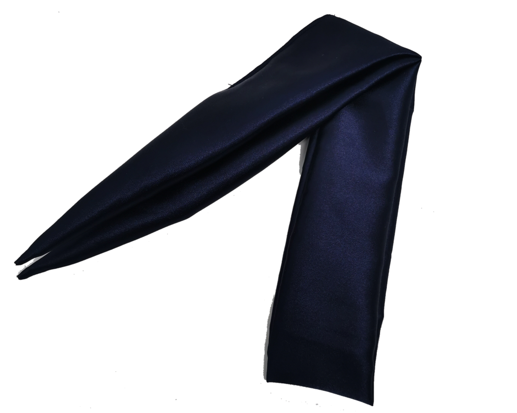 Navy Satin Hair Scarf