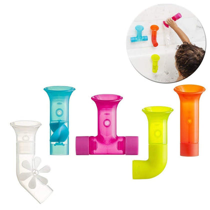 Boon Building Bath Pipes Toy, Set of 5 Pack of 5 Set 1