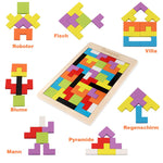 BrainWorks Wooden Tetris Puzzle | Developmental Play | 3+