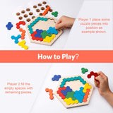 Kids Wooden Hexagon Puzzle