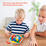 Wooden Hexagon Puzzle for Kids
