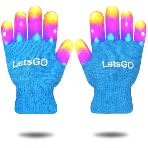 KITY LED Flashing Gloves for Kids Blue